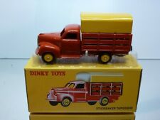DINKY TOYS ATLAS 25L STUDEBAKER TAPISSIERE - RED + YELLOW - EXCELLENT IN BOX