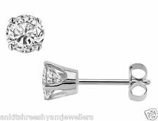 Solitaire Stud In 925 Sterling Silver For Men - Single stud