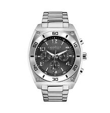 Bulova CARAVELLE Mens Stainless Steel Watch Gray Dial Chronograph 43A120