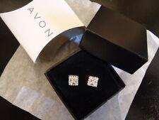 AVON Princess Cut CZ Stud Earrings
