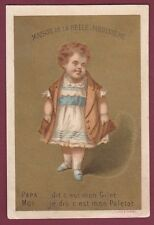 Chromo BELLE JARDINIERE - F. APPEL - Gilet, enfant, paletot