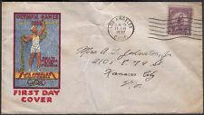 US #718 3c SUMMER OLYMPICS FDC 1st R.E. BENNETT CACHET LOS ANGELES CA. 6/15/1932