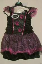Superbe Robe HALLOWEEN -CARNAVAL - Motif PATTES CHAT  - 3/5 ans - NEUVE
