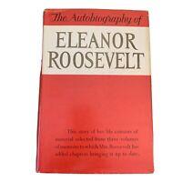 The Autobiography Of Eleanor Roosevelt Harper Vtg HC Book DJ 1st