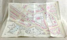 1890 Antique Map of Huddersfield College Burlington House Park Hand Coloured