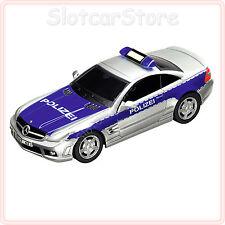 """Carrera GO 61181 AMG Mercedes SL 63 """"Polizei D"""" (mit Blaulicht) 1:43 Auto Plus"""