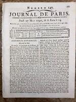 Montauban en 1790 Toulouse La Fayette Romens Rare Journal Révolution Française