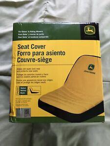 NIB John Deere Mower Medium Cushioned Seat Cover W/Backpocket LP92324