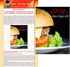 Diät - also lüge ich -- Abnehmen -  eBook - Verkaufsseite - PLR Lizenz