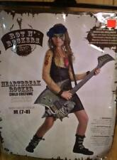 GIRLS HEARTBREAK ROCKER COSTUME SIZE MEDIUM (7-8) INCLUDES TATOO SLEEVE & DRESS