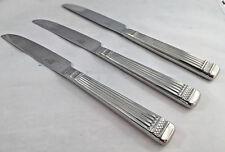 Mikasa Stainless Palladium 3 Dinner Knives Solid GF120 18/8 Korea Ridged 149089