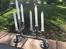 Pipe Candle Holder Candelabra Multiple Colors Available