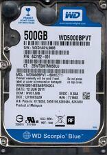 WD5000BPVT-60HXZT1 DCM: HVOTJVB WXD1A Western Digital 500GB