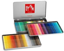 Amazing Caran D'ache Pablo Artists Coloured Pencils Pack/tin120 Free Sharpener