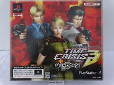 TIME CRISIS 3 + GUNCON 2 BUNDLE PISTOLA GUN CON SONY PS2 PLAYSTATION IMPORT JAP