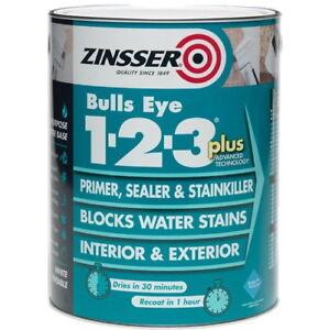 Sale Zinsser Bulls Eye 123 Plus Primer Sealer Stain Block Interior/Exterior 1L