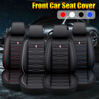 Front Car SUV Seat Cover Protection Cushion PU Leather Pad Universal Waterproof