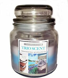 Homestreet Scented Jar Candle with 3 Complementary Beach Holiday Coastal Scents