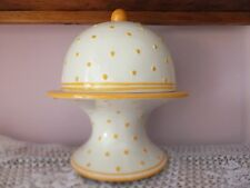 Ceramic Pedestal Cake Plate with Dome Lid