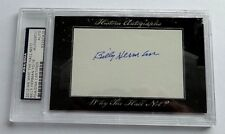 Billy Herman 2012 Historic Autograph Why the Hall Not? PSA/DNA Chicago Cubs #/18
