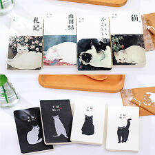 New Blank Vintage Sketchbook Diary Drawing Painting Cute Cat Notebook papers