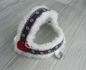 Hundegeschirr Umfang 29- 39 cm Hundehalsband Hundebekleidung Geschirr Handarbeit