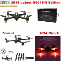 Hubsan H501S S X4 FPV Brushless Drone 1080P GPS RC Quadcopter BNF, No Remote
