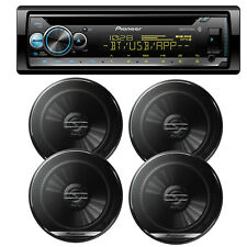 """New Pioneer DEH-S5100BT 1-Din In-Dash CD Receiver + (4) TS-G1620F 6.5"""" Speakers"""