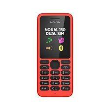 Nuevo Dual SIM Nokia 130-Rojo (Desbloqueado) Teléfono Móvil