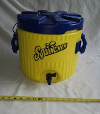 Sqwincher 3 Gallon Yellow/Blue Cooler w/ pour spout, Fast Shipping.