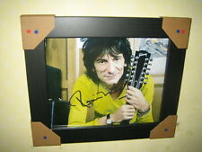 Ronnie Wood {Rolling Stones} Excellent Signed Photo 8x10 - {Re-print} Framed