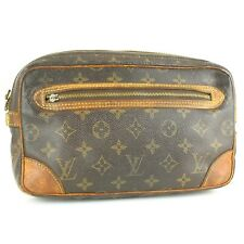 Auth LOUIS VUITTON MARLY DRAGONNE Clutch Bag Purse Monogram M51825 JUNK