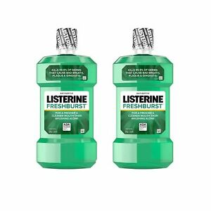 Antiseptic Mouthwash with Germ Killing Oral Care  Pack Of 2 Mouthwash Oral Care