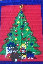 "CHRISTMAS TREE PRESENTS SCREEN PRINTED FLAG BANNER NYLON 29"" X 41.5 NEW"