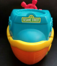 "Sesame Street S.S. Sesame Plastic Blue, Yellow and Orange Ship/Boat Toy 8"" x 5"""