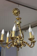 Lustre en bronze à 6 bras de lumières