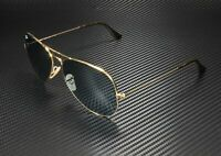 RAY BAN Aviator Large Metal RB3025 919262 Gold Lt Blue 62 mm Unisex Sunglasses