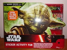 Brand New Disney Star Wars Yoda Sticker Activity Fun Set LOTS OF FUN