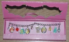 Disney Store Princess Charm Bracelet  Ariel Belle Rapunzel Chip Flounder Pascal