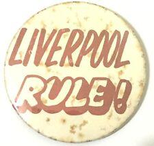 Liverpool Lineal! Alt Og Vtg 1970s Große Knöpfe Anstecker 55mm Fußbal FC Beatles