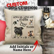 Personalised Staffordshire BULL TERRIER Dog Puppy Cushion Cover Gift