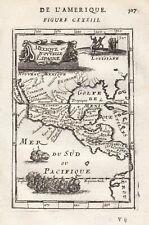 Mexico Guatemala Florida California North America Honduras map Karte Mallet 1683