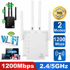 1200Mbps WiFi Repeater Wireless Extender Dual Band Booster Range Signal AC1200