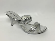 Women's Ladies Strappy Heel Sequin Shoes - Gold Silver Black - Sizes UK 3-8