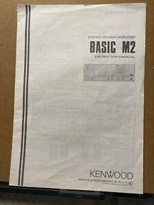Original Owner Manual for the Kenwood Basic M2 Amplifier Amp