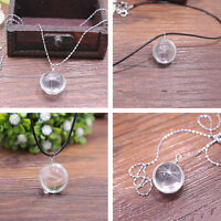 Women Fashion Silver Crystal Ball Dandelion Pendant Necklace Trendy Jewelry