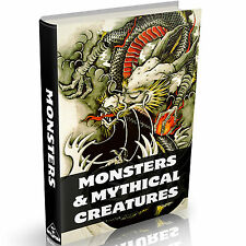 Monsters & Mythical Creatures Books on DVD Mythology Dragons Zoology Serpents ++
