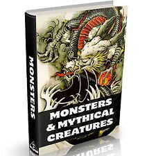 Monster & Mythische Kreaturen Bücher auf DVD Mythologie Drachen Zoologie Schlangen + +