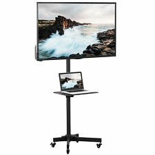 """Vivo Mobile Tv Cart for 23"""" to 55"""" Lcd Led Plasma Flat Panel 
