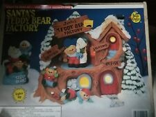 Wee Crafts LIGHTS Santa's Teddy Bear Factory Ready to Paint Kit 21213 Unpainted